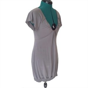 Wilfred Aritzia Grey Low V-neck Tunic Dress, Med